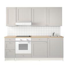 358,- Euro ogne Geschirrspüler: KNOXHULT Küche IKEA Eine komplette Küche mit Arbeitsplatte, Regalen, Schubladen, Spüle, Mischbatterie und Siphon.