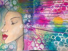Life book lesson 6. Spray ink galore! Www. Glimmerbug.com