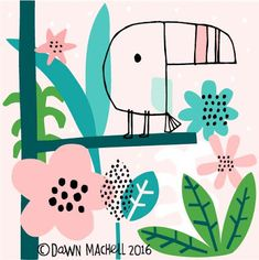 Animal illustrations - Guestpinner @happymakersblog - llustrator: Dawn Machell    #kidsdinge