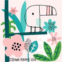 Animal illustrations - Guestpinner @happymakersblog - llustrator: Dawn Machell    #kidsdinge