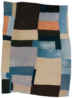 oh, that quilting! (Lucy Mooney, Blocks and strips work-clothes quilt, c. 1935)