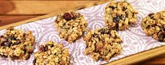 Granola Breakfast Cookies by Carla Hall The Chew Recipes, Dog Food Recipes, Cookie Recipes, Flour Recipes, Breakfast Cookie Recipe, Breakfast Recipes, What's For Breakfast, Paleo Breakfast, Breakfast Pastries