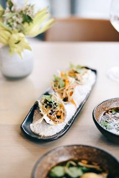 Asian Oysters Starters at Cavalli Estate Growing Seeds, Fine Wine, Wine Tasting, Fresh Rolls, Starters, Oysters, Whole Food Recipes, Restaurant, Asian