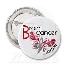 Brain Cancer BUTTERFLY 3 Pinback Buttons