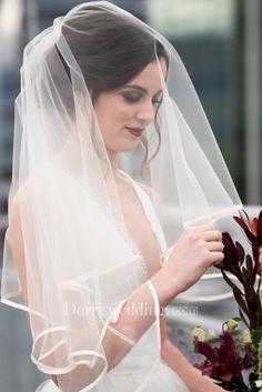 Multi Layer Veil Wedding Veil Blue Tulle Bridal Veil With Comb Short Veil Hair Comb Wedding Veil Blush veil
