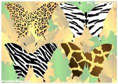 Animal print butterflies poster #poster, #printmeposter, #mousepad, #tshirt