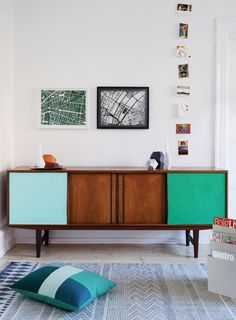 paint it out - colour block upcycled sideboard