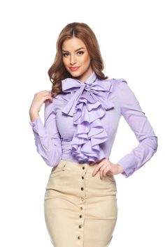 And we should look our best there too! Girls Blouse, Sexy Blouse, Blouse And Skirt, Fashion Models, Fashion Outfits, Satin Blouses, Beautiful Blouses, Elegant Outfit, Womens Fashion For Work