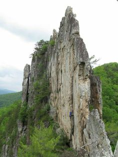 Seneca Rocks in West Virginia. Not often photographed from this side angle.