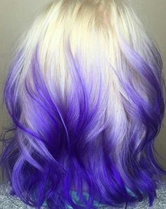 Blonde purple ombre dyed hair color @hairbynatalielevy