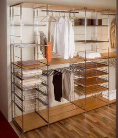 Отрыйтый шкаф для купе или гардеробной комнаты - Галерея идей Balton