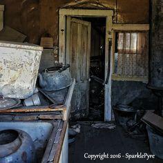 Abandoned Photography - Dirty Kitchen - 5 x 5 Matte Print - Abandoned Kitchen…
