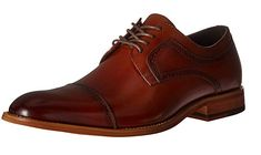Non-Leather sole CLASSIC STYLE: Cap-toe oxford featuring burnished brogue perforated trims and blind-eyelet lacing COMFORT: Fully cushioned memory foam insole for superior padded cushy comfort and shock absorption Amazon Clothes, Outdoor Outfit, Brogues, Blind, Memory Foam, Derby, Classic Style, Oxford Shoes, Dress Shoes