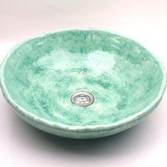 Azure turquoise overtop sink handmade washbasin ceramic sink