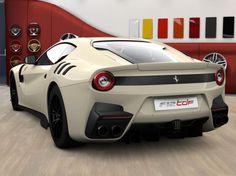 Ferrari F12 TDF painted in Ivory Retro Photo taken by: @ferraricollector_davidlee on Instagram