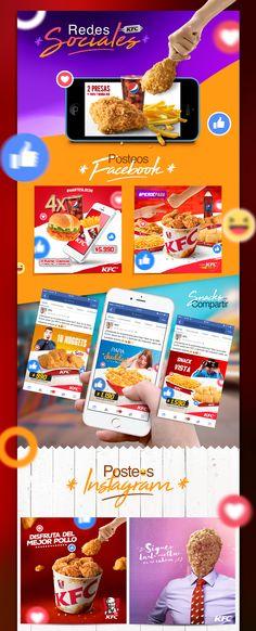 Colección de post para Instagram y Facebook correspondientes al periodo 2016 - 2017 para la marca KFC Chile.