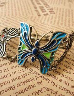 Retro Gold Butterfly Bracelet SHEILITA