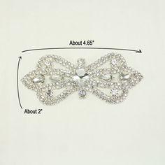 1 pc of rhinestone applique bridal applique wedding applique hair applique  dress applique Headband applique Hair Accessories - Annielov 82 e8dc3245008f