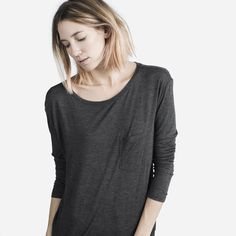 A graceful long sleeve, cut in a luxe rayon fabric  100% rayon Rayon fabric has…