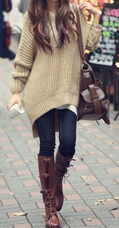 Cozy Camel Sweater