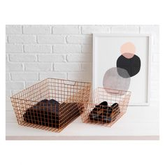 STANFORD Set of 2 copper wire baskets | Buy now at Habitat UK