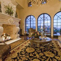 Fireplace in Multi-Million Dollar Home Designed by Fratantoni Luxury Estates