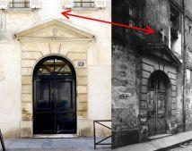 Paris 5e - 18 rue Tournefort - Une des entrées du couvent des Bénédictines du Saint-Sacrement, démoli en 1979, circa 1900 et de nos jours.