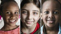 No Dia das Crianças, meninos e meninas do Haiti, Síria, Arábia Saudita e Congo falam sobre a guerra, comer arroz e feijão e aprender a recomeçar.