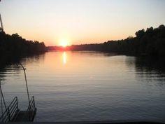 Sunset on the Black Warrior River, Tuscaloosa, Alabama