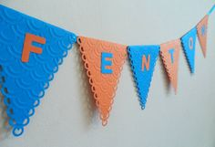 This listing is for personalised, handmade paper bunting NAME in a large, banner size. Perfect for your childs bedroom or for birthdays, baby