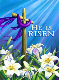 He Is Risen Easter Religious Cross Decorative House Flag Patio, Lawn & Garden Easter Religious, Religious Cross, He Is Risen Quotes, Jesus Has Risen, Ostern Wallpaper, Rise Quotes, Resurrection Day, Easter Monday, Easter Quotes