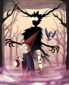 Rick and Morty x Over the Garden Wall