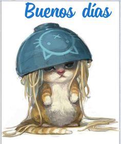 I Love Cats, Crazy Cats, Cute Cats, Animal Drawings, Cute Drawings, Drawing Animals, Dibujos Cute, Cute Illustration, Cat Art