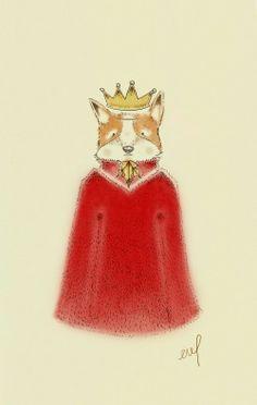 King Fox Vanessa Valbuena www.facebook.com/vanessavalbuenacom www.instragram.com/vanessavalbuenacom Enamel, Facebook, Artwork, Fox, King, Foxes, Isomalt, Vitreous Enamel
