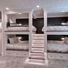 Browse through these tremendous approaches for a loft bed areaYou can find Bunk rooms and more on our website. Bunk Beds For Boys Room, Bunk Bed Rooms, Bunk Beds Built In, Cool Kids Bedrooms, Bunk Beds With Stairs, Build In Bunk Beds, Cool Bunk Beds, Amazing Bunk Beds, Built In Beds For Kids