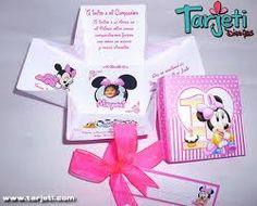 Resultado de imagen para tarjeta de minnie mouse bebe