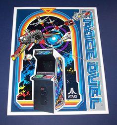 Atari SPACE DUEL Original 1982 NOS Video Arcade Game Space Age Promo Sales Flyer #AtariSpaceDuel