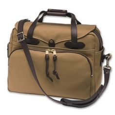 #outdoorgear #outdoorclothing Filson Padded Computer Bag - Tan: Constructed of Filson`s industrial weight Rugged Twill… #camping #hiking