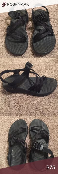 Black chacos Gently worn black chacos Chacos Shoes Sandals