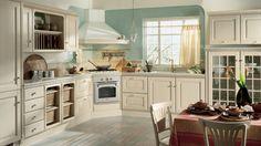 Baltimore kuchyně  - rohová / corner rustic kitchen in light colour