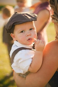 Gorgeous young ring bearer