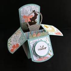 ... Pop-up Box Card with Sweet Sorbet Designer Paper from Stampin' Up