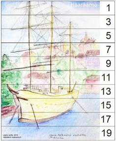 Free skip counting printable puzzle, odd numbers 1 - 19 http://www.haaraamo.fi
