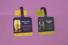 Graft Cider Shelf Wobblers Pop Display, Display Design, Booth Design, Price Tag Design, Pos Design, Juice Packaging, Skincare Packaging, Shelf Talkers, Retail Signage