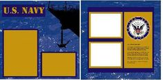Uniformed Scrapbooks of America - 12 x 12 Page Kit - Navy at Scrapbook.com $11.99