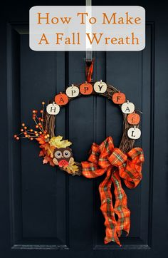 Home Crafts by Ali: How to Make a Fall Wreath