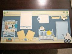 Baby layout using Cricut cartridges