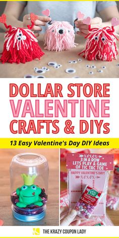 If you're looking for easy DIY Valentine's Day cards or DIY Valentine crafts for kids (& adults!), these dollar store DIY projects and free Valentine's Day printables are perfect for you! There's something special about cute Valentine's Day decor, gifts, and cards that everyone loves, especially when they're made with dollar store supplies! These Dollar Tree DIYs are perfect for Valentine's Day for kids, parents, siblings, or classmates. #dollarstorediy Cute Valentine Ideas, Valentine Gifts For Kids, Valentines Day Decorations, Valentine Day Cards, Valentine Crafts, Happy Valentines Day, Easy Diy Valentine's Day Cards, Valentine's Day Diy, Do It Yourself Organization