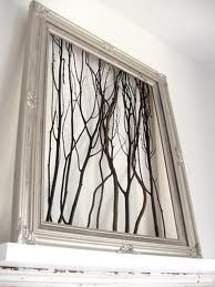 use an old window frame...combine with the strained glass birds on another pane