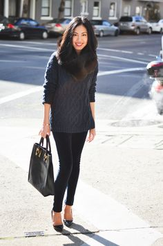 9to5Chic: Blue & Black